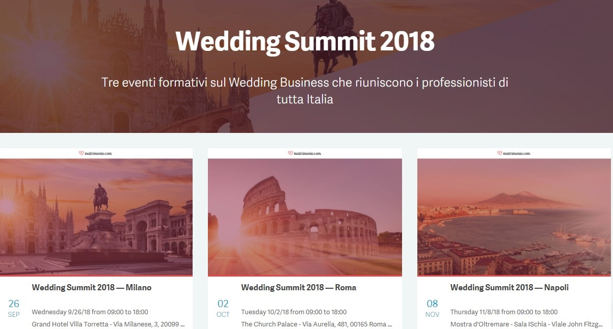 Wedding Summit 2018